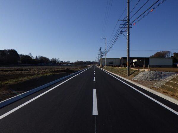 県単道路改築工事 (一)大木浅田切線